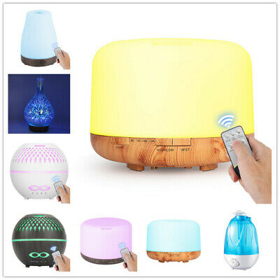 AU25.69 • Buy 100-4000ml Ultrasonic Air Humidifier Essential Oil Aroma Diffuser Aromatherapy