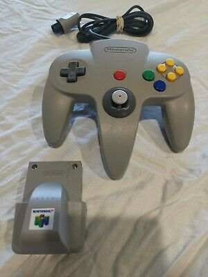 AU50 • Buy Nintendo 64 Controller N64 - Official Grey - 9/10 Toggle And Rumble Pack