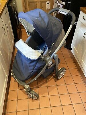Graco Evo Avant Travel System, Puschair In Navy With Carrycot, Isofix, Car Seat • 75£