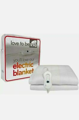 Electric Heated Under Blanket 3 Heat Setting Small SINGLE • 11.95£