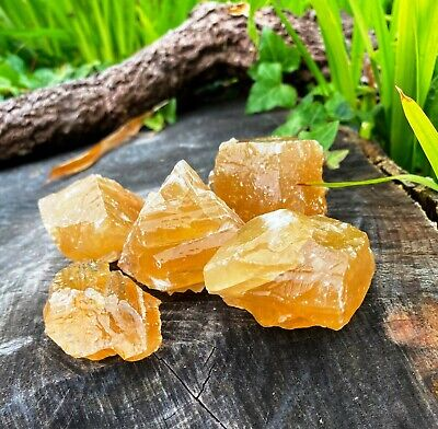 RAW MEXICAN CITRINE CALCITE PIECES. 1 PIECE. HEALING CRYSTAL Raw Crystal Calcite • 3.25£