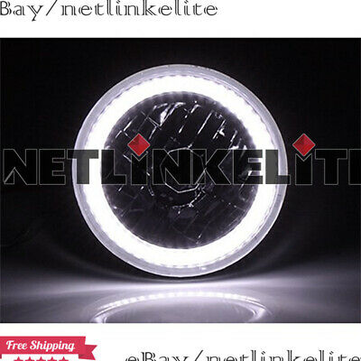 $42.10 • Buy 7inch Pair White SMD LED Halo Ring Round Semi-Sealed H6014/H6024 Beam Headlights