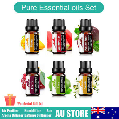 AU22.78 • Buy 100% Pure Fruit Essential Oils Set For Skin Care Diffuser Aroma Aromatherapy