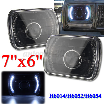 AU52.59 • Buy Pair 7x6'' 5x7'' LED Headlight Headlamp For Jeep Wrangler YJ Toyoga Hilux Truck