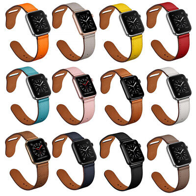 AU16.99 • Buy Genuine Leather Apple Watch Band Strap Bracelet For IWatch Series SE 6 5 4 3 2 1
