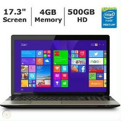 "View Details Toshiba Satellite L75-B7270 - 17.3"" - Intel Pentium- 4 GB RAM - 500 GB HDD • 489.00$"