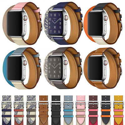 AU17.99 • Buy Genuine Leather Strap Apple Watch Band  IWatch Series 6 5 4 3 2 1 38/40/42/44mm