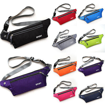 AU13.67 • Buy Unisex Fanny Pack Waist Belt Bum Bag Jogging Running Outdoor Travel Pouch Bags