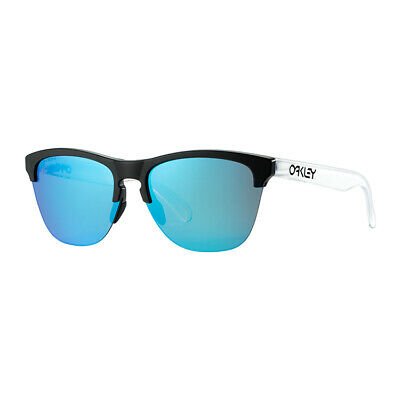 AU59.99 • Buy Oakley Frogskins Lite Sports Sunglasses White Frame Blue Polarised Lens