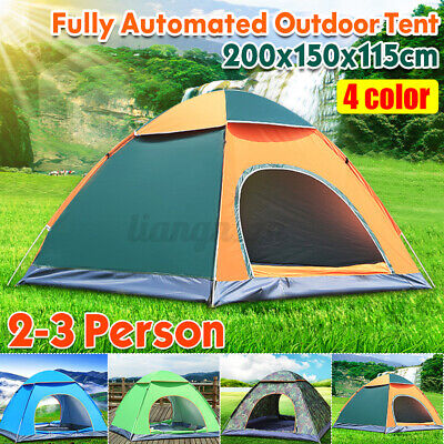 AU28.92 • Buy 3-4 Person Portable Camping Tent Waterproof Hiking Beach Canvas Outdoor