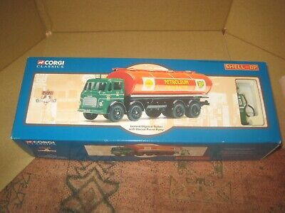 BOXED 1/50 Scale CORGI 24203 Leyland Elliptical Tanker  Shell/BP  WITH PUMP • 16£