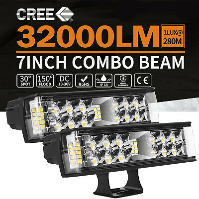 AU37.59 • Buy 2x 7Inch 816W LED Light Bar Pods Spot Flood Combo Driving Lights OffRoad 4WD 6