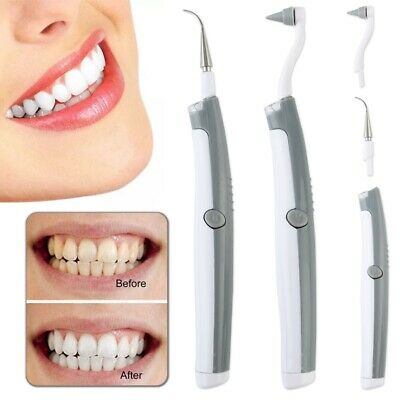 Electric Sonic Dental Tooth Polisher Teeth Whitener Plaque Tartar Remover • 5.37£