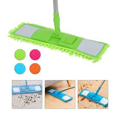 Microfibre Flat Floor Mop Cleaner Sweeper Cleaning Wooden Laminate Tile Wet Dry • 6.59£
