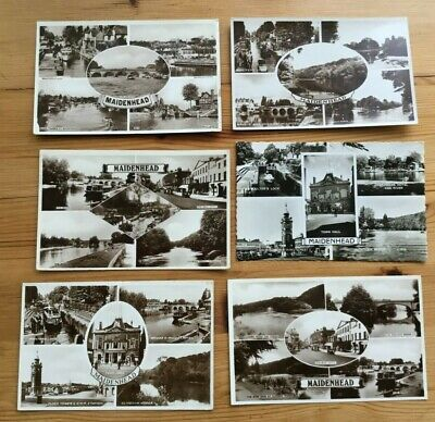 Maidenhead - Vintage Multiview Real Photo Postcards (6)  Free Shipping • 7.99£