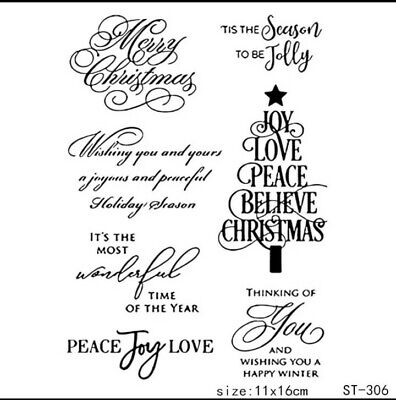 Christmas Messages Clear Stamps/xmas Saying/sentiments Words/images Stamp • 5.50£