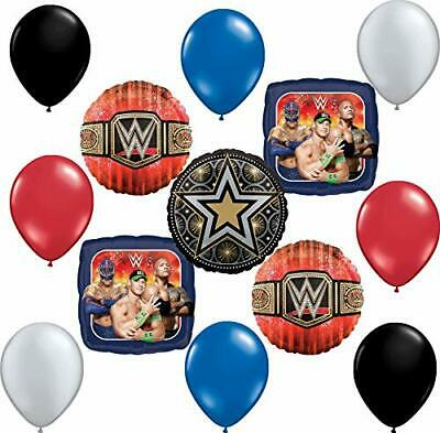 WWE Party Supplies 13 Pc Balloon Bouquet Decoration • 17.47£