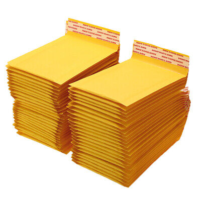 $4.95 • Buy 50/100/200/500 Kraft Bubble Mailers Padded Envelope Shipping Bags Seal Any Size