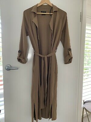 AU150 • Buy MASSIMO  DUTTI Women's Soft Viscose Camel Trench  Coat Size XS New Without Tags