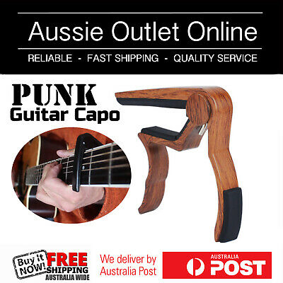 $ CDN12.23 • Buy WOOD Design Professional PUNK Alloy Guitar Capo For All Guitars - AOO NSW