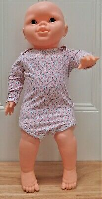 AU19.95 • Buy MARQUISE: Baby Girl Long Sleeve Bodysuit, Small Pink Flower Print 000 (0-3 MTHS)