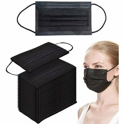 AU35.95 • Buy Black / Blue / GREY Disposable Face Mask 4 Layer MEDICAL Anti Bacterial Filter