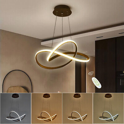 £45.95 • Buy Spiral Ceiling Light Pendant Lamp Dimmable LED Chandelier Lights Remote Control