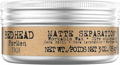 Bed Head For Men By Tigi Matte Separation Hair Wax 85g NEW • 8.59£