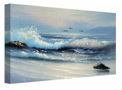 Ocean Sea Waves Seascape Oil Effect  Canvas Wall Painting Art Picture Print  • 25.99£