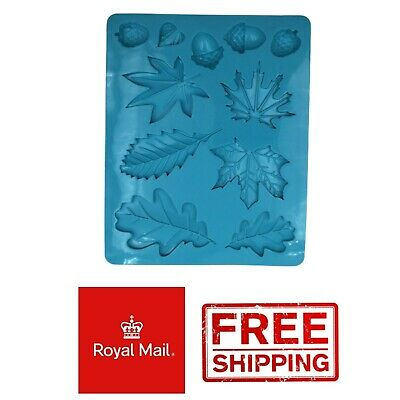 Leaf Leaves Decorative Fondant Chocolate Wax Melts Mold Silicone Mould • 2.99£