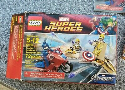 Lego Marvel Super Heroes 6865 Captain America's Avenging Cycle Read Description • 12.38£