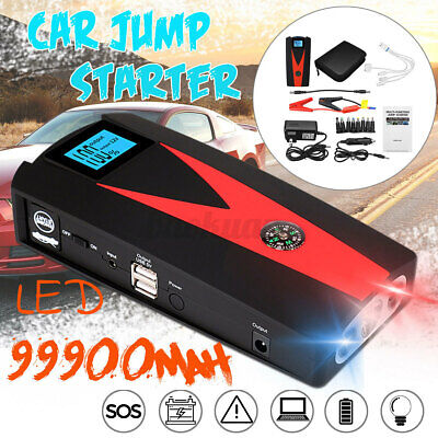 AU64.99 • Buy 99900mAh Portable Car Jump Starter Vehicle Charger Power Bank Battery Engine BUY