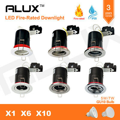 Fire Rated LED Downlights IP65/IP20 Recessed Ceiling Spotlights FIXED/TILT GU10  • 18.94£