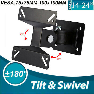 TV Wall Bracket Mount Swivel Tilt 14 16 19 22 24  Inch Flat LED LCD Monitor • 5.49£