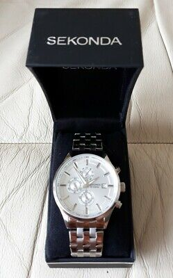 Sekonda Men's Quartz Watch With Silver Dial Chronograph Display And Silver • 59.99£