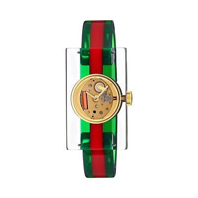 AU464.88 • Buy Gucci YA143503 Women's Vintage Web Green And Red Quartz Watch