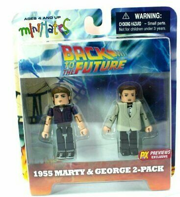 Back To The Future PX Previews Exclusive 1955 Marty & George 2-Pack • 135£
