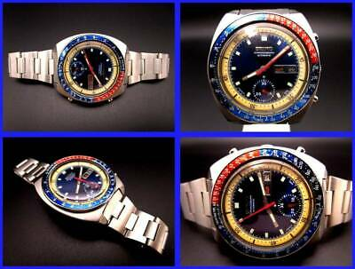 $ CDN1141.56 • Buy Seiko Speed Master 6139-6002 Vintage Rare Pepsi Automatic Auth Mens Watch Works