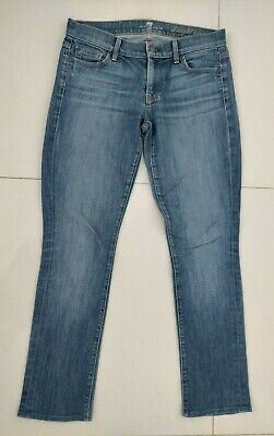 AU23 • Buy Womens 7 FOR ALL MANKIND Straight Leg Blue Jeans Size 30 Actual