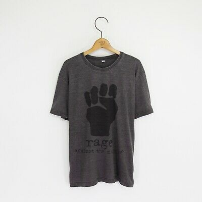 Men's 'Rage Against The Machine' Distressed Vintage-Style Rock T-Shirt • 20.99£