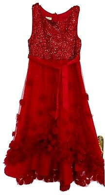 Monsoon Girls IANTHE High Low Red Dress Age 10 With Red Matching Shoes Eu 36 EUC • 40£