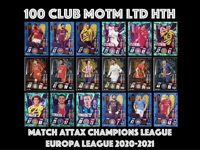 Match Attax 2020/21 Choose Your 100 Club Limited Edition Man Of The Match Hth • 1.95£