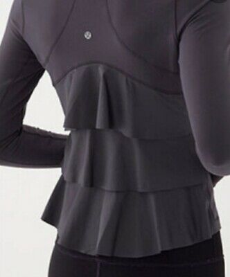 $ CDN87.99 • Buy Lululemon Yogi Dance Jacket Size 6 Black Run Yoga Spin Cycle Coat Luon