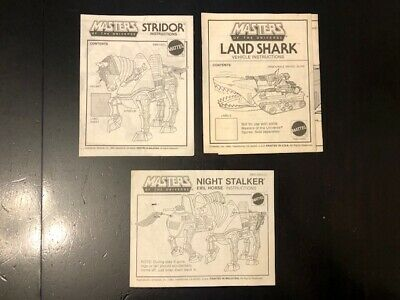 $22 • Buy Vintage He-man MOTU Instructions For Land Shark Strider Night Stalker Masters