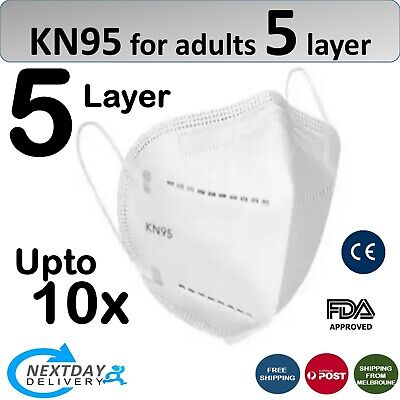 AU11.61 • Buy N95 KN95 Face Mask Reusable Mouth Masks Anti Dust 5 Layer Respirator Protective