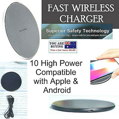 AU12.99 • Buy Qi Wireless Charger Fast Charging Pad Samsung S10 S20 Iphone 11 XS XR 5G FAST AU