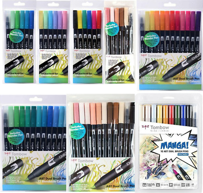 Tombow ABT Dual Brush Pen Kits,Wallets, Packs, Sets, All Options Available • 15.49£