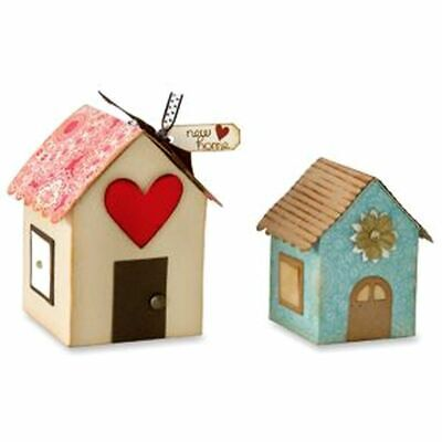 Accucut Wooden Die - Box House #3 New BX128CS Works With Sizzix Pro Machine New • 65£