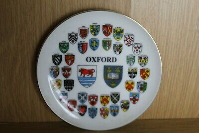 Oxford University Collective Colleges Coat Of Arms Collectors Plate • 3.99£
