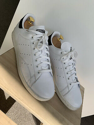 AU69 • Buy Near New Adidas Stan Smith 11 US White Black Tennis Shoe Leather Classic